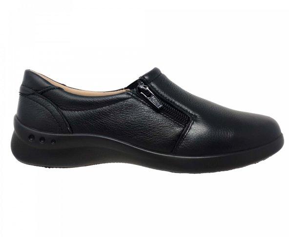 Zapato bajo negro para mujer en piel Flexi 48303