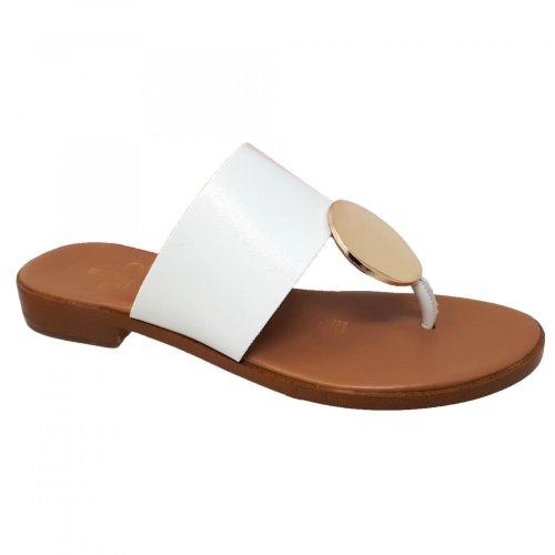 Sandalia blanca para mujer Gillio 802011
