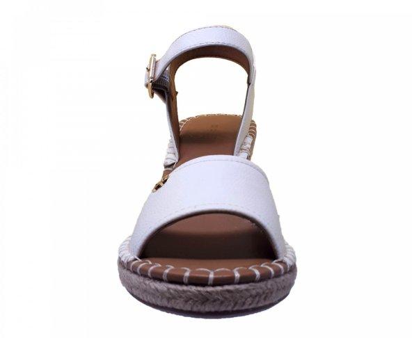 Sandalia alpargata hueso para mujer de plataforma  Gillio 826003