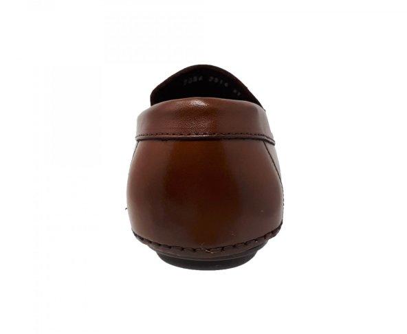 Zapato mocasin para hombre café oscuro G2516