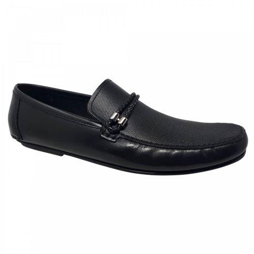 Zapato mocasín negro para hombre Gino Cherruti 2522