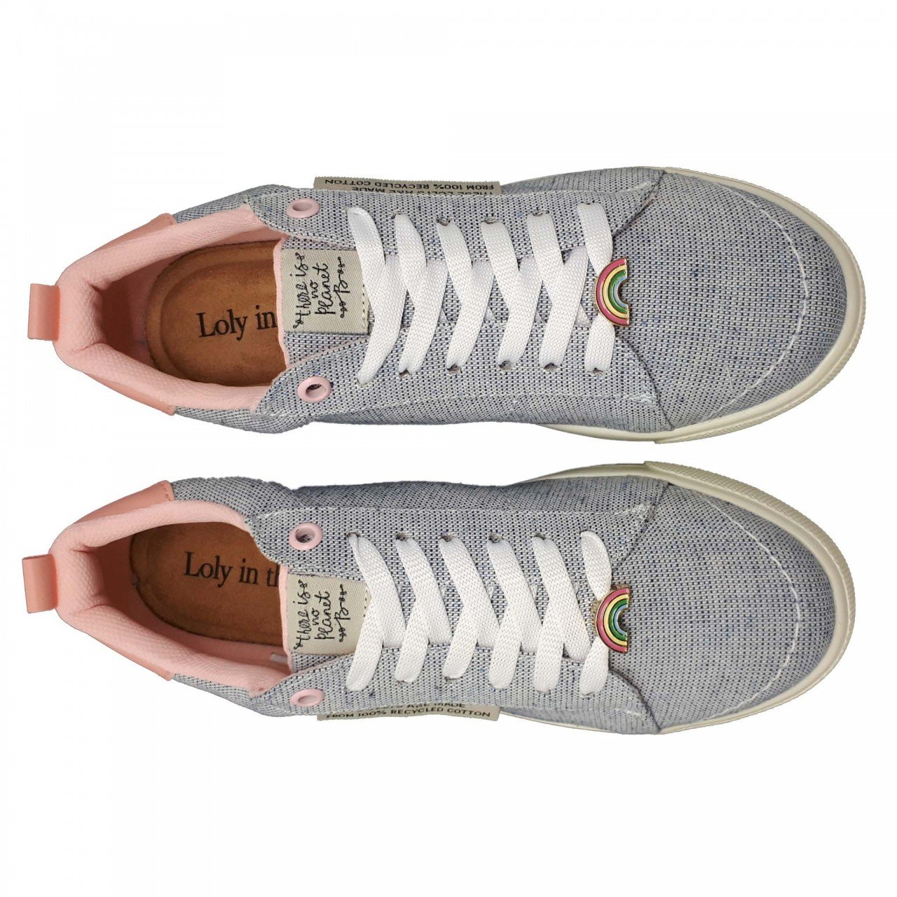 Tenis azul con rosa para mujer Glory Loly in the sky