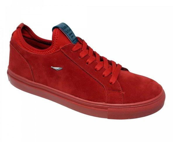 Tenis choclo rojo textil para hombre Hemisferios H24918
