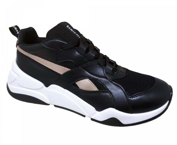 Tenis chunky negro para mujer Hemisferios H39301