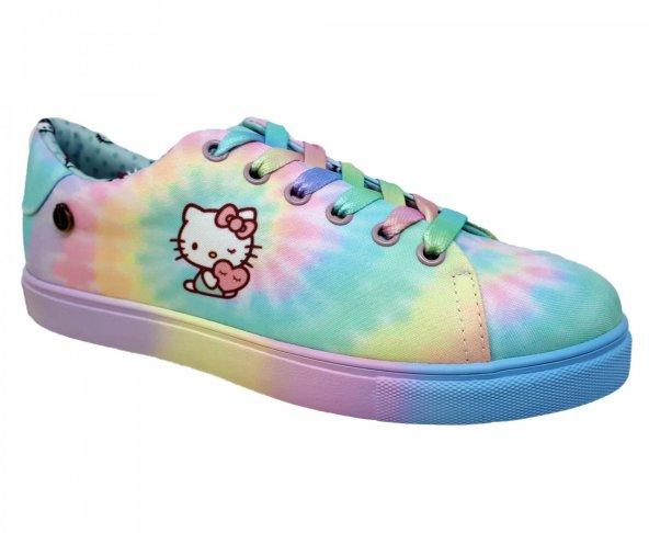 Tenis multicolor tie dye para mujer Hippie Kitty Loly in the sky