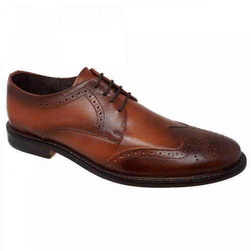 Zapato de vestir café miel para hombre H314