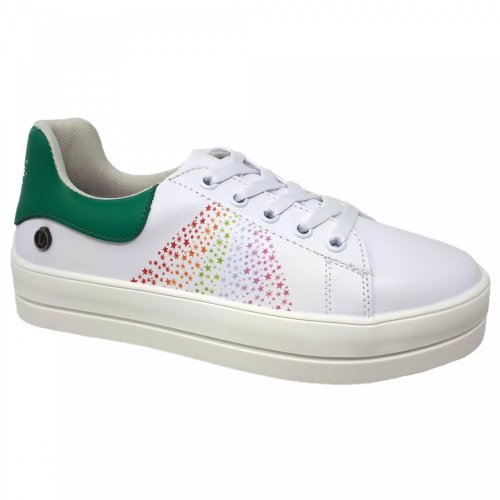 Tenis blanco para mujer con plataforma Janice Loly in the sky