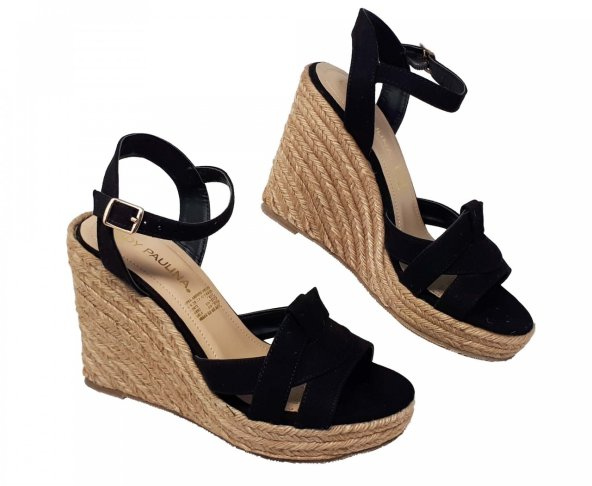 Sandalia negra para mujer 22001