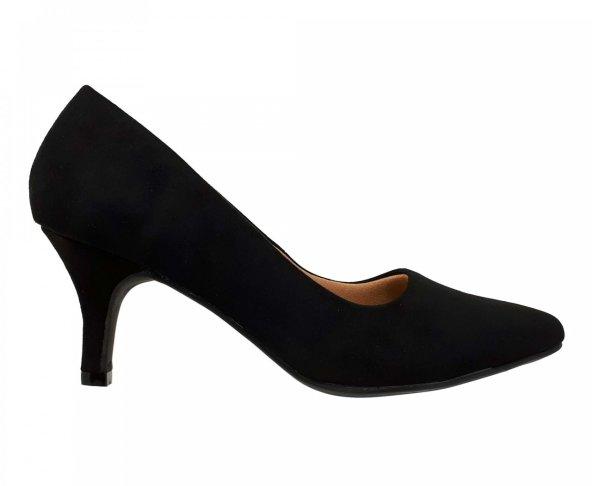 Zapatilla confort negra para mujer 22901