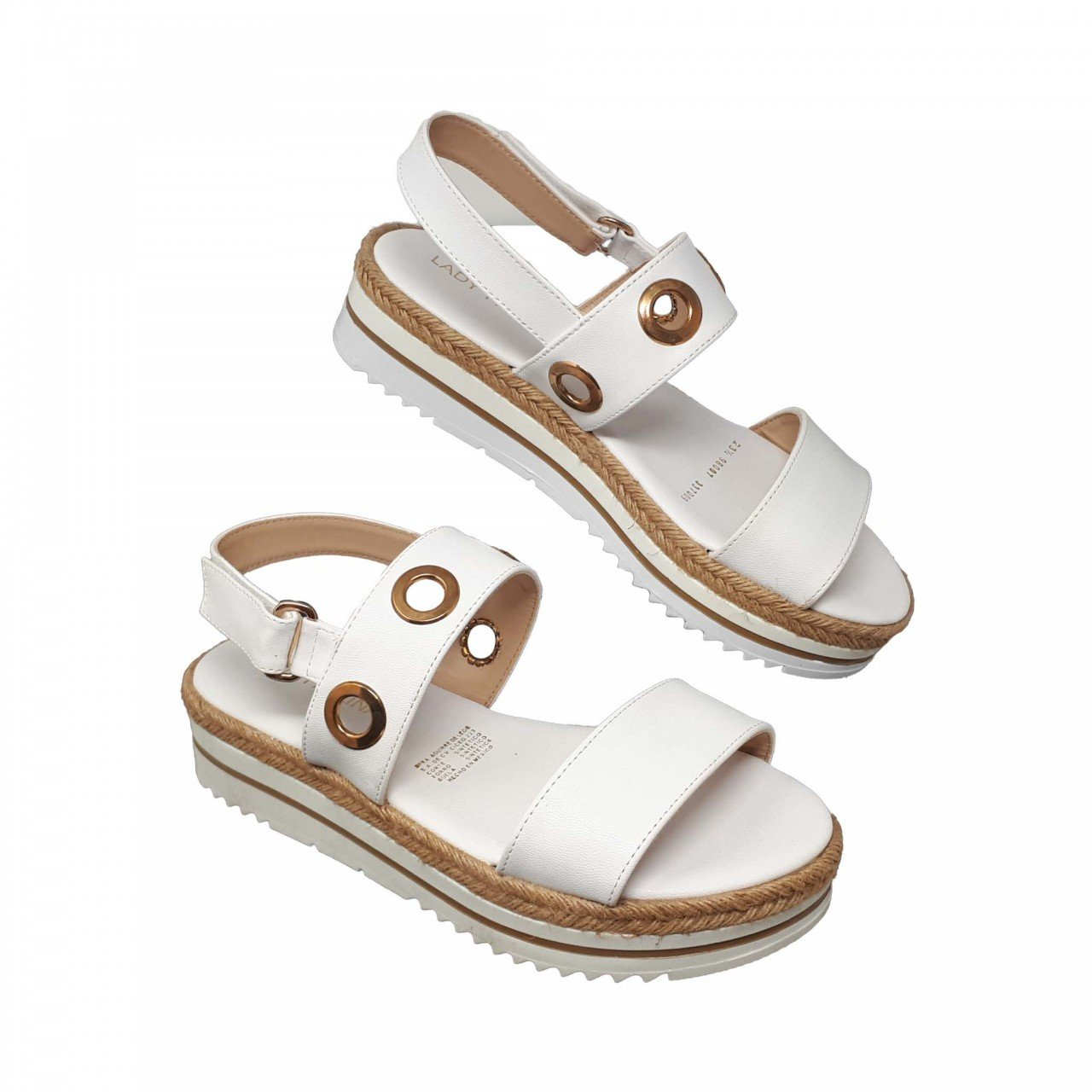 Sandalia blanca para mujer 98007