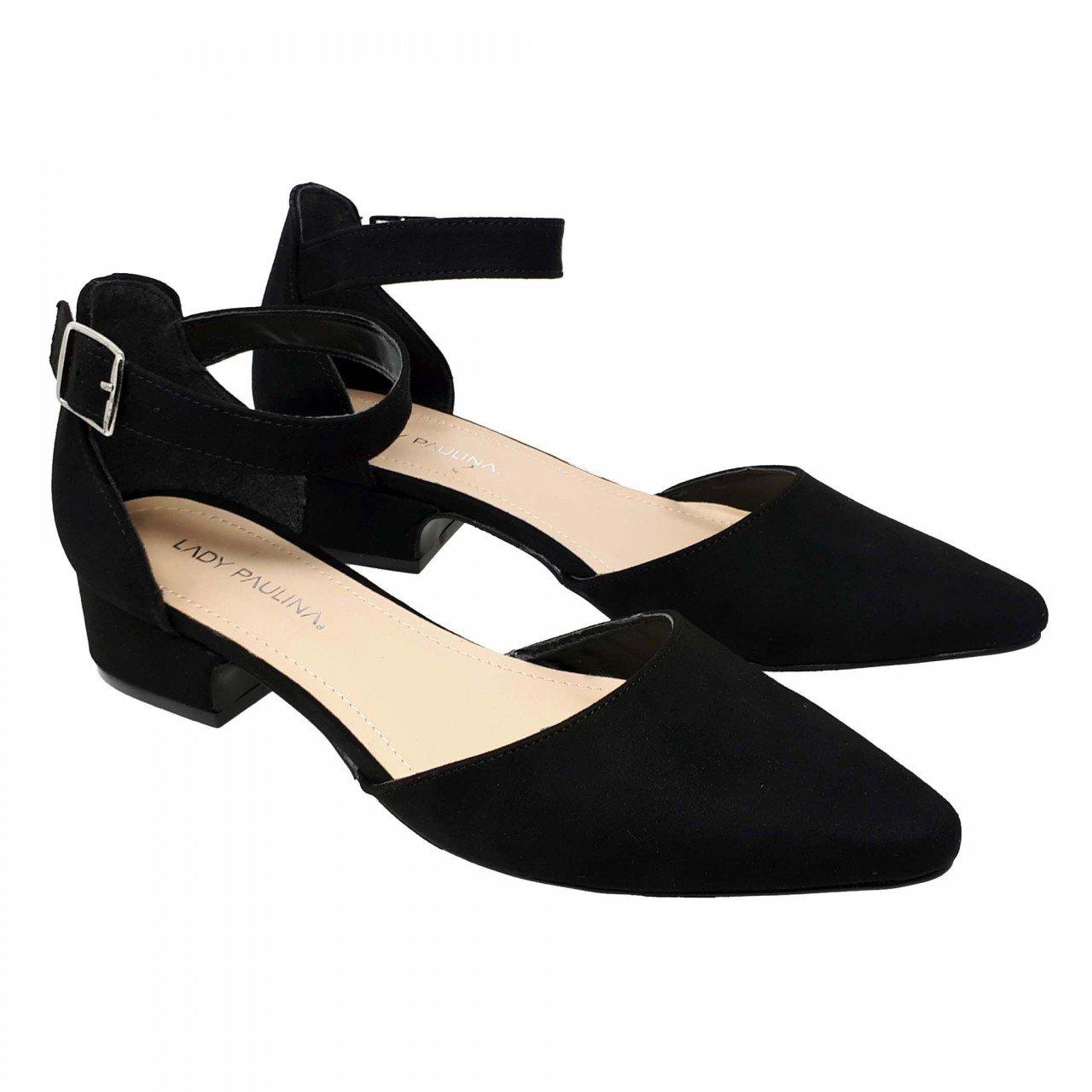 Balerina puntal negra con pulsera para mujer 99701