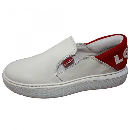 Tenis blanco para dama mocasín Levis 110321
