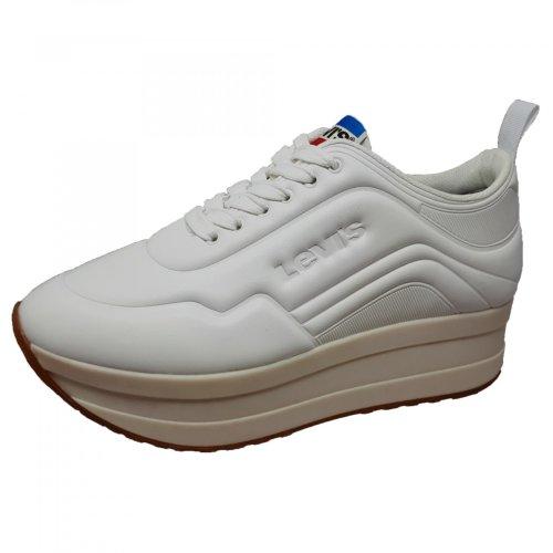 Tenis blanco para mujer con plataforma Levis 119332