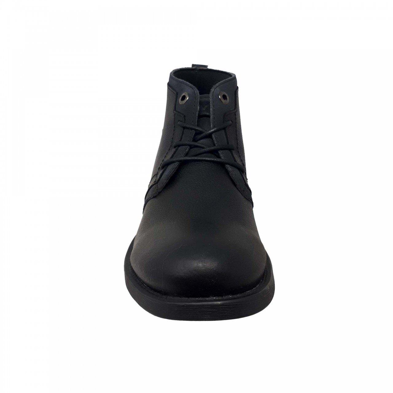Bota negra para hombre en piel Levis 219181