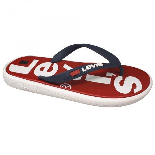 Sandalia de playa para hombre roja Levis 228946