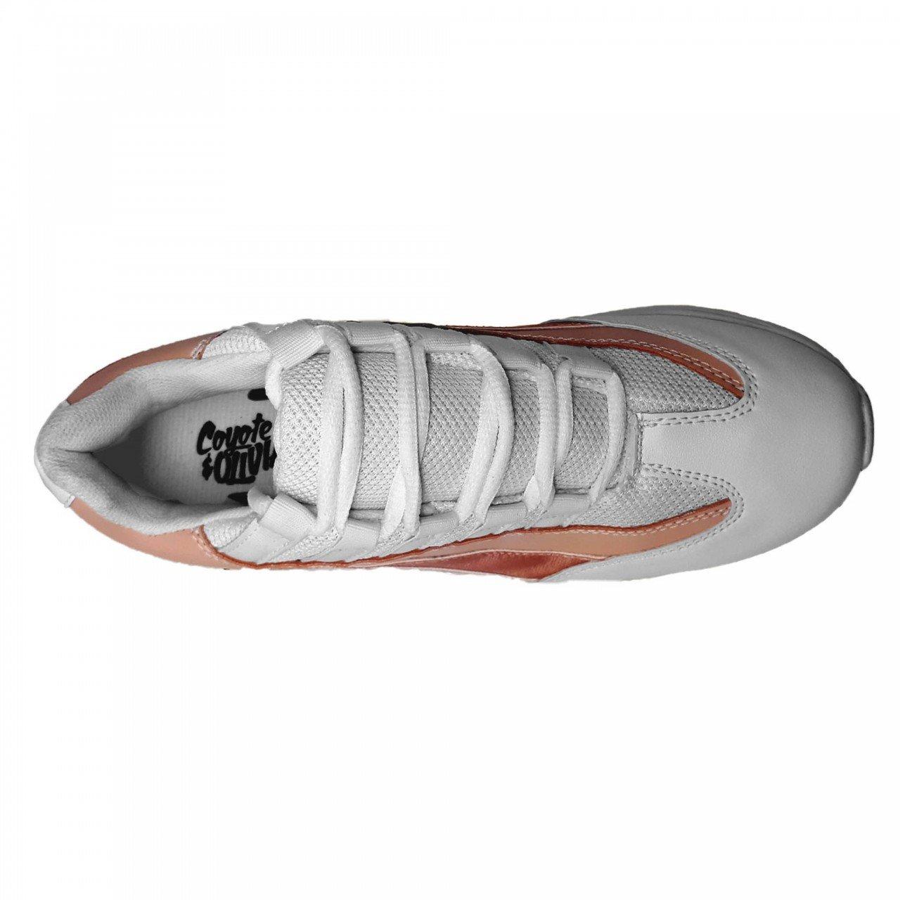 Tenis blanco con rosa de mujer Coyote y Olivia O1117