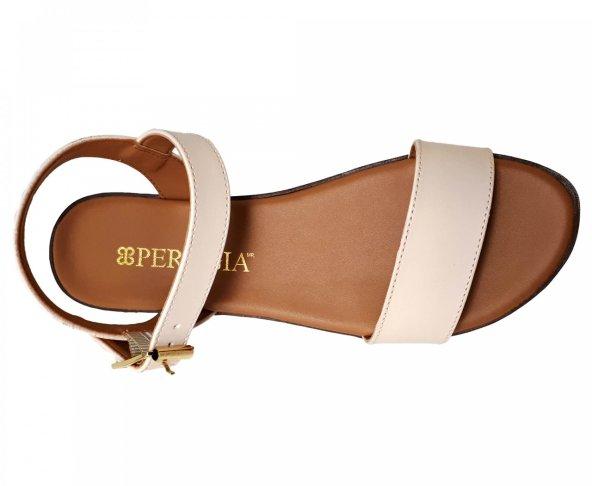 Sandalia blanca de plataforma para mujer Perugia 33201
