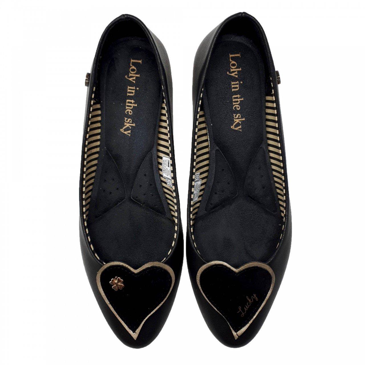 Zapato balerina negro para mujer Rigoberta Loly in the SKY
