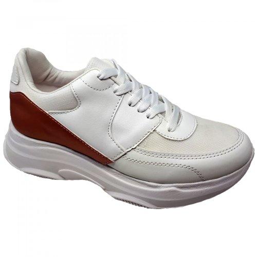 Tenis blanco con rosa para mujer Coyotey Olivia R1374