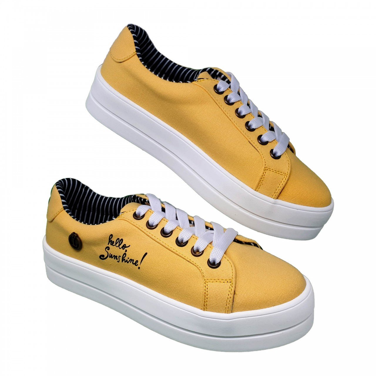 Tenis amarillo para mujer Salma Loly in the sky