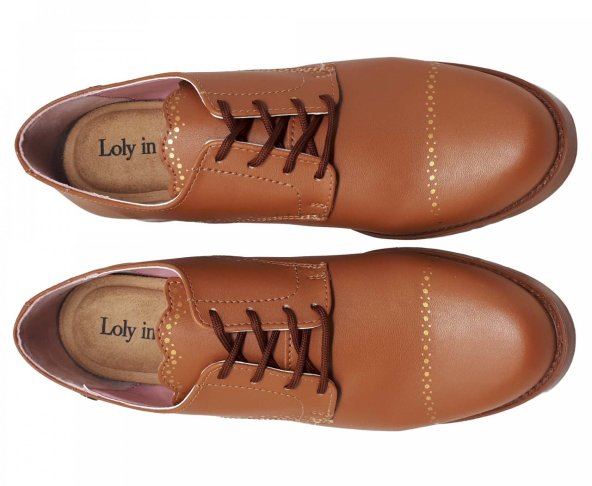 Zapato café para mujer Theodora Loly in the sky