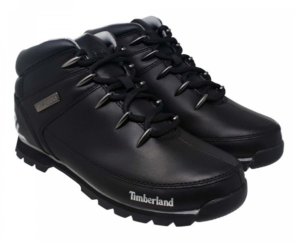 Botas negras en piel para hombre Timberland A17JR Eurosprint
