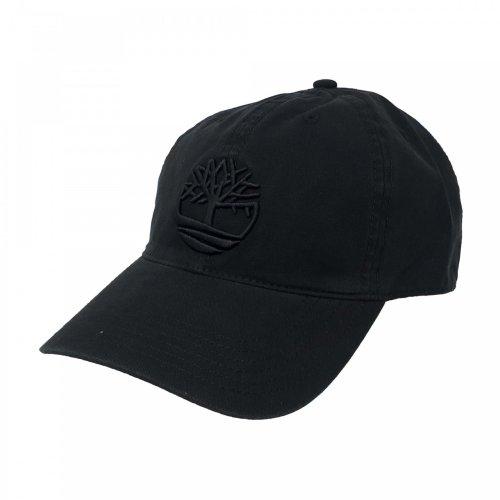 Gorra original negra de algodón Timberland TB0A1E9M