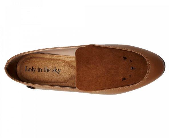 Zapato café para mujer Trixy Loly in the Sky