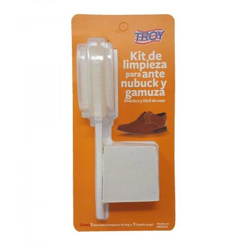 Kit de limpieza para ante, nubuck y gamuza. Cepillo y borrador