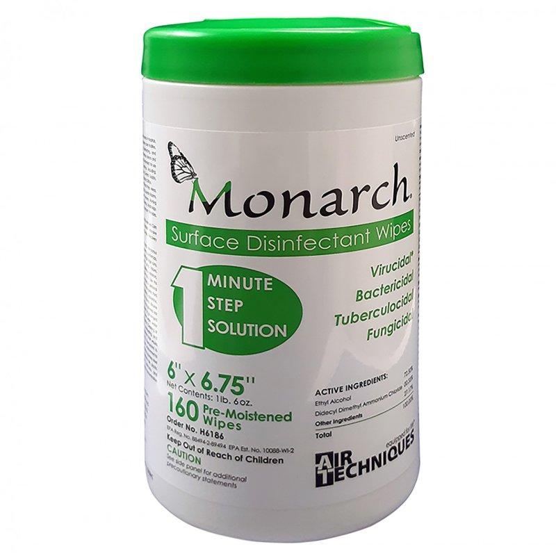 Toallas desinfectantes grado medico Monarch 2 frascos Precio U.T. $297.5 M.N. + IVA