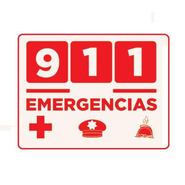 Letrero Emerencias 911 20x25