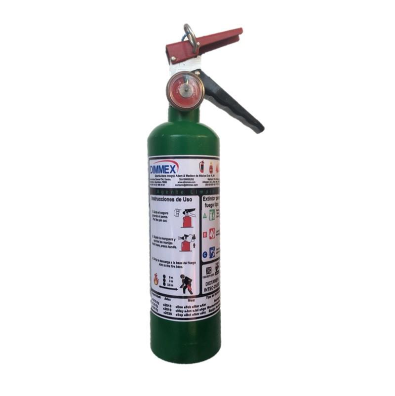 Extintor Agente Limpio tipo ABC 0.75Kg Ecológico