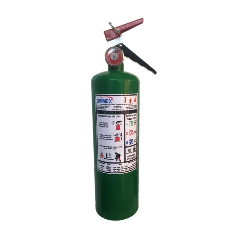 Extintor Agente Limpio tipo ABC 1.5Kg Ecológico