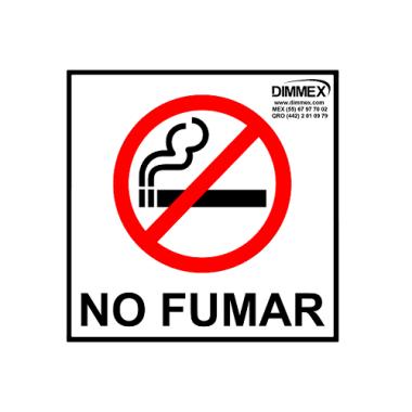 Letrero No Fumar Chico 15x15