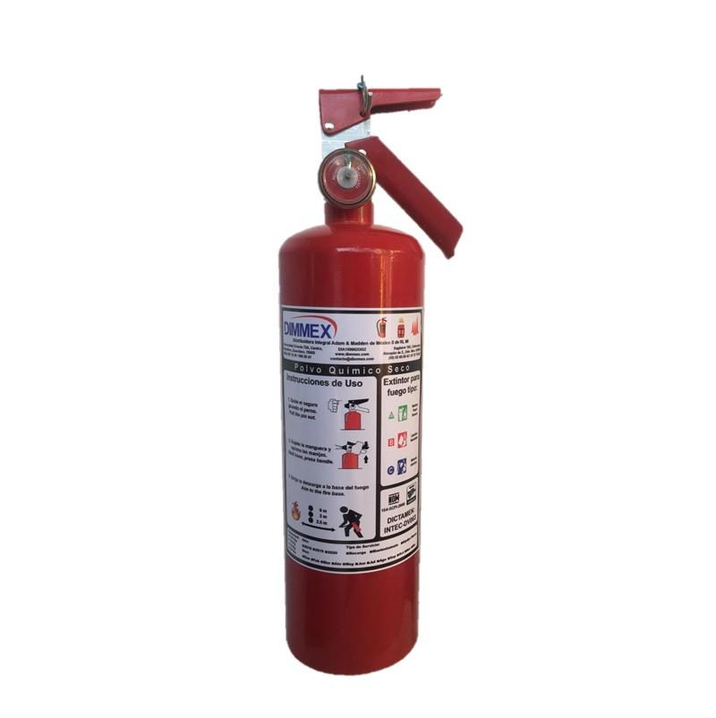 Extintor PQS Certificado tipo ABC 2.5Kg