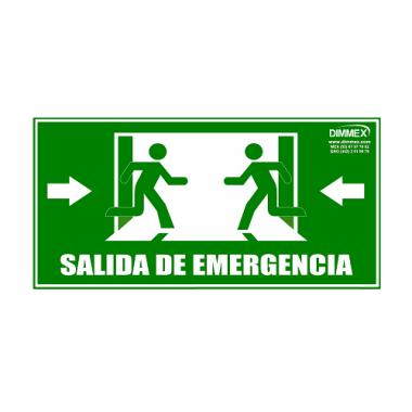 Letrero Salida de Emergencia Grande 20x40