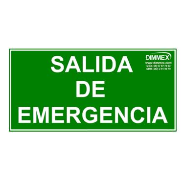 Letrero Salida de Emergencia Chico 10x20