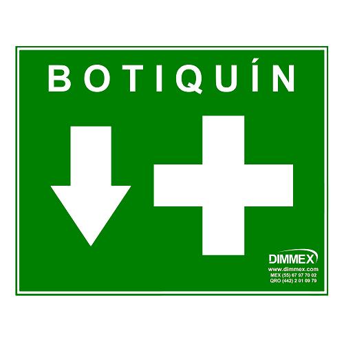 Letrero de Botiquín Mediano 20x25