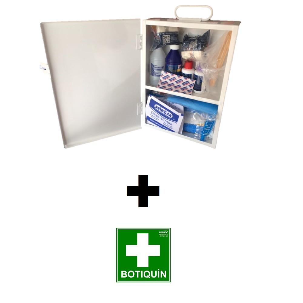Botiquín Metalico Equipado Mediano DIMMEX