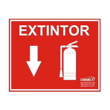 Letrero de Extintor Grande 30x40