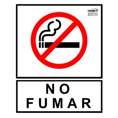 Letrero No Fumar Grande 30x40