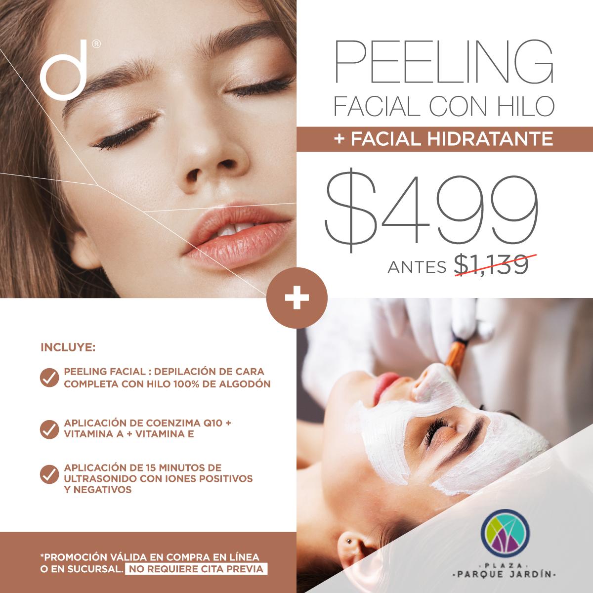 Peeling Facial con Hilo + Facial Hidratante - SÓLO PLAZA PARQUE JARDÍN&w=900&h=900&fit=crop