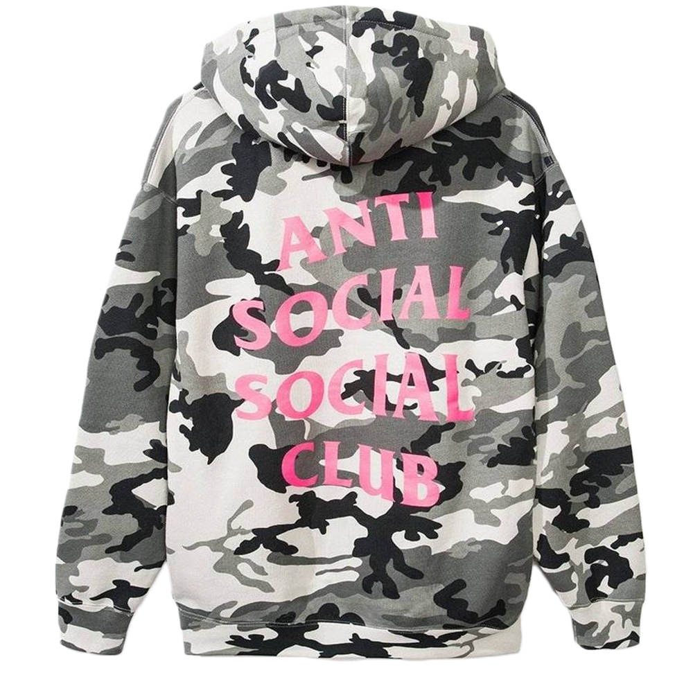 Anti Social Social Club Frozen Snow Camo Hoodie