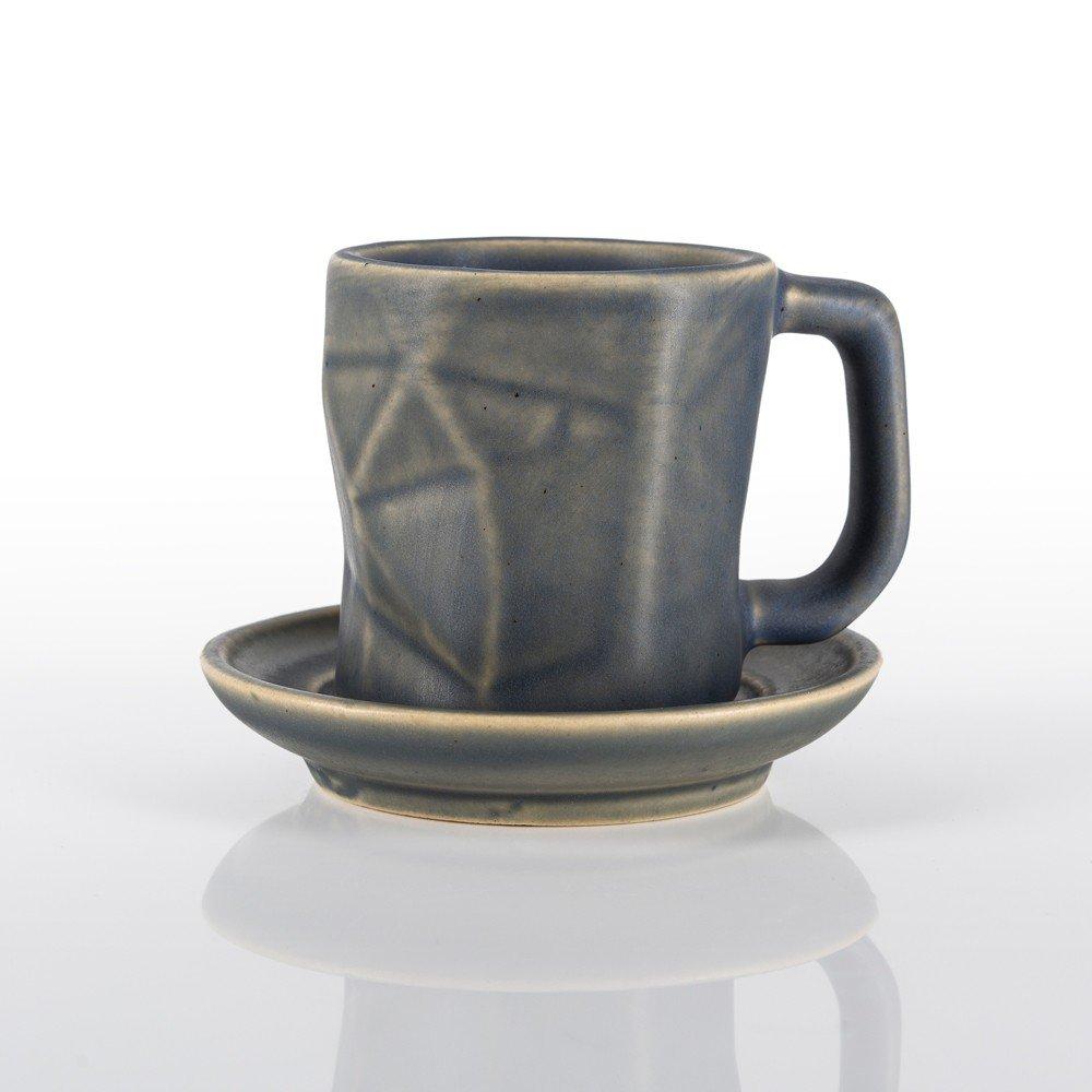 Taza Prisma para espresso color gris piedra