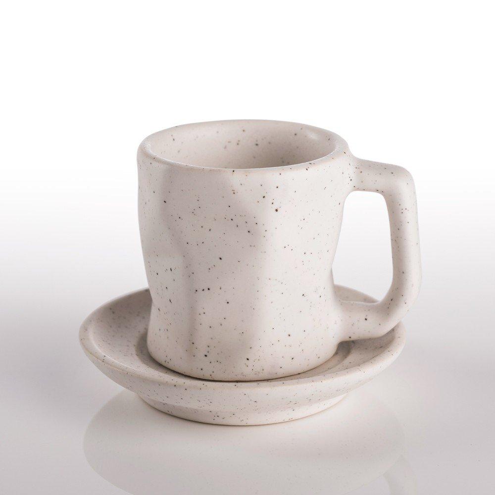Taza Prisma para espresso color blanco viruta