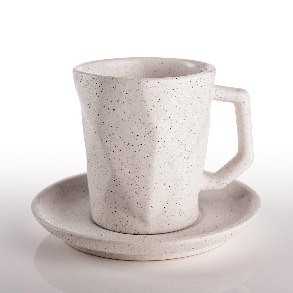 Juego de plato y taza Prisma 250