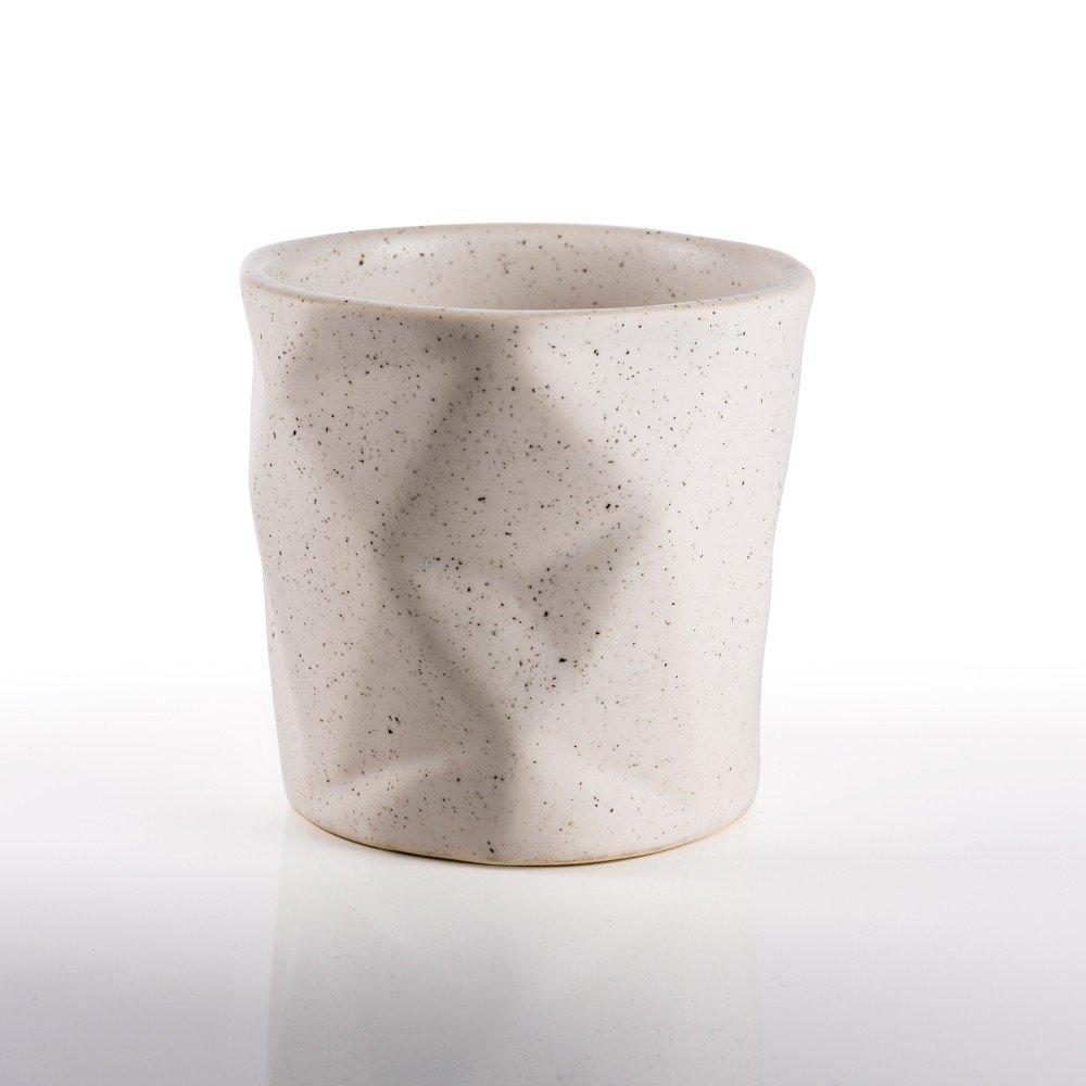 Taza Prisma para té color blanco viruta