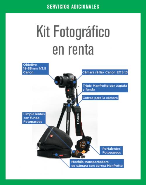 Kit Fotográfico en renta por 6 días.