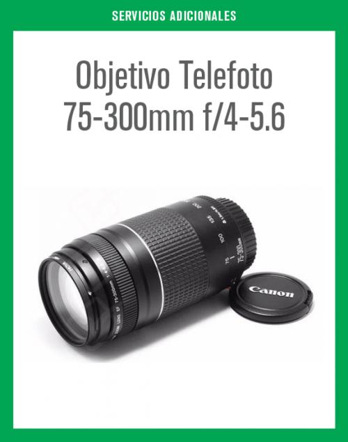 Objetivo Telefoto 75-300mm f/4-5.6 en renta.