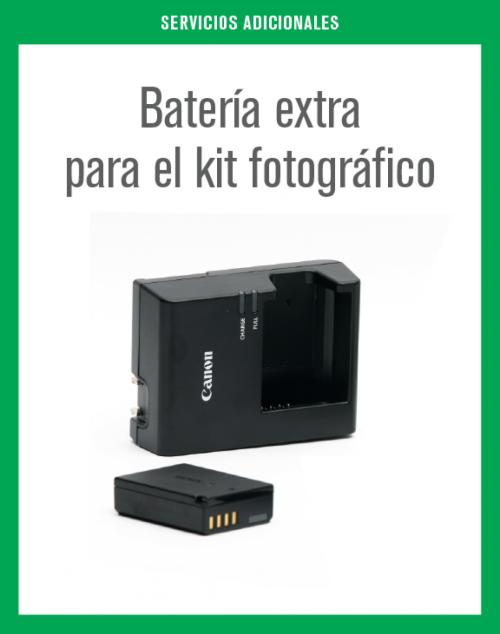 Batería extra para el kit fotográfico.
